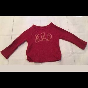BABY GAP GIRL Sparkle Long Sleeve Shirt  18-24m